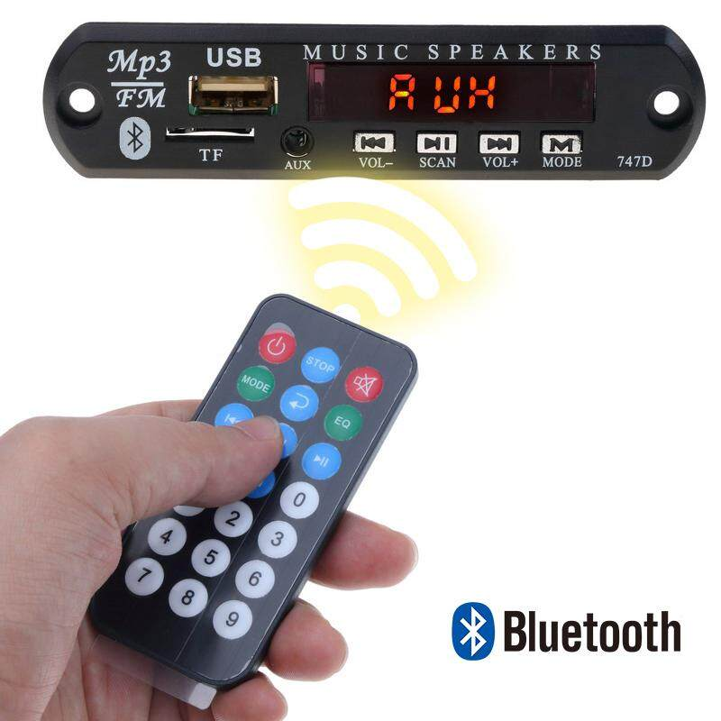 5v 12v Wireless Bluetooth Mp3 Wav Wma Decoder Board Mp3 Player Module Audio Car Kit With Usb U Disktf Fm Radio 3.5mm Aux Function Music Audio Receiver With Remote Controller (led And Color Lcd Screen Version For Optional) By Meiteai.