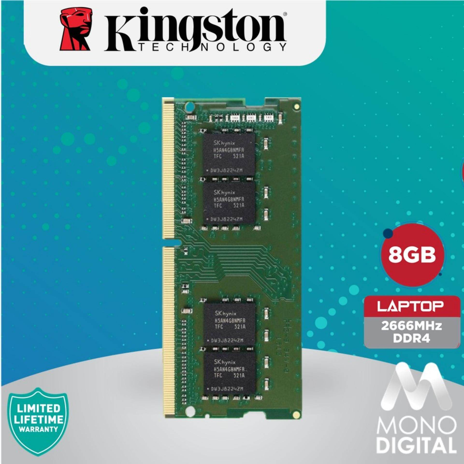 Kingston ValueRAM 8GB RAM DDR4 2666Mhz PC4 2666 SODIMM Laptop Memory  (KVR26S19S8/8)