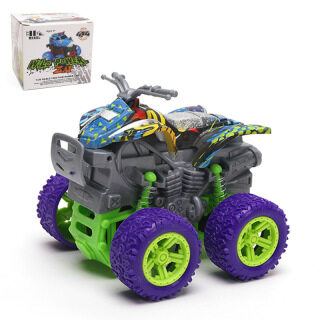 Đồ chơi trẻ em xe ô tô bốn bánh địa hình xoay tròn kèm chức nắng chống sốc thumbnail