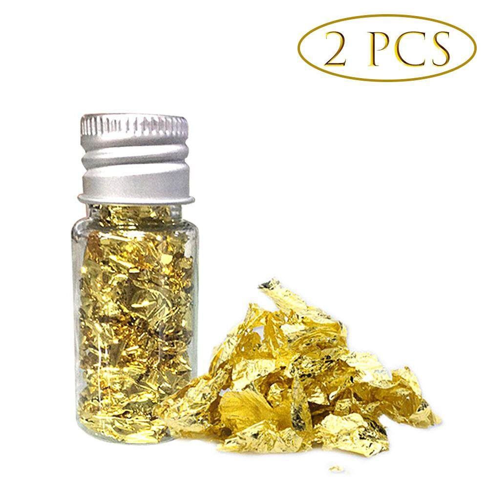 Tavey 10ml Edible Gold Flakes Edible Gold Leaf Mask Decoration Gold Foil Cooking Cake Chocolate Decoration