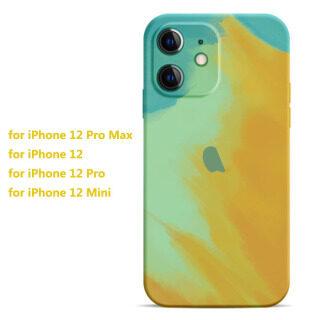 [Có Sẵn & Giao Hàng Nhanh] Dành Cho iPhone 12 11 Pro MAX XS XR X 8 7 Plus SE 2020 Ốp Điện Thoại Mềm Trừu Tượng Màu Gradient Bảo Vệ Ống Kính Máy Ảnh Ốp Silicon Hình Học thumbnail