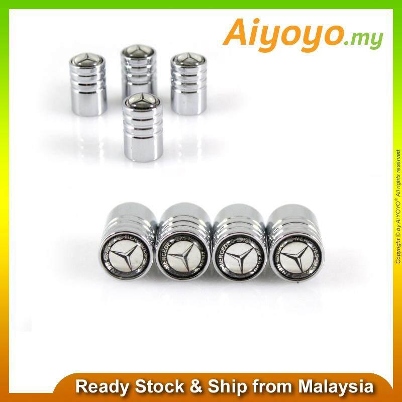 AMG 4pcs//set Car Wheel Tire Valves Tyre Air Caps Dust Mercedes Benz Tyre Silver