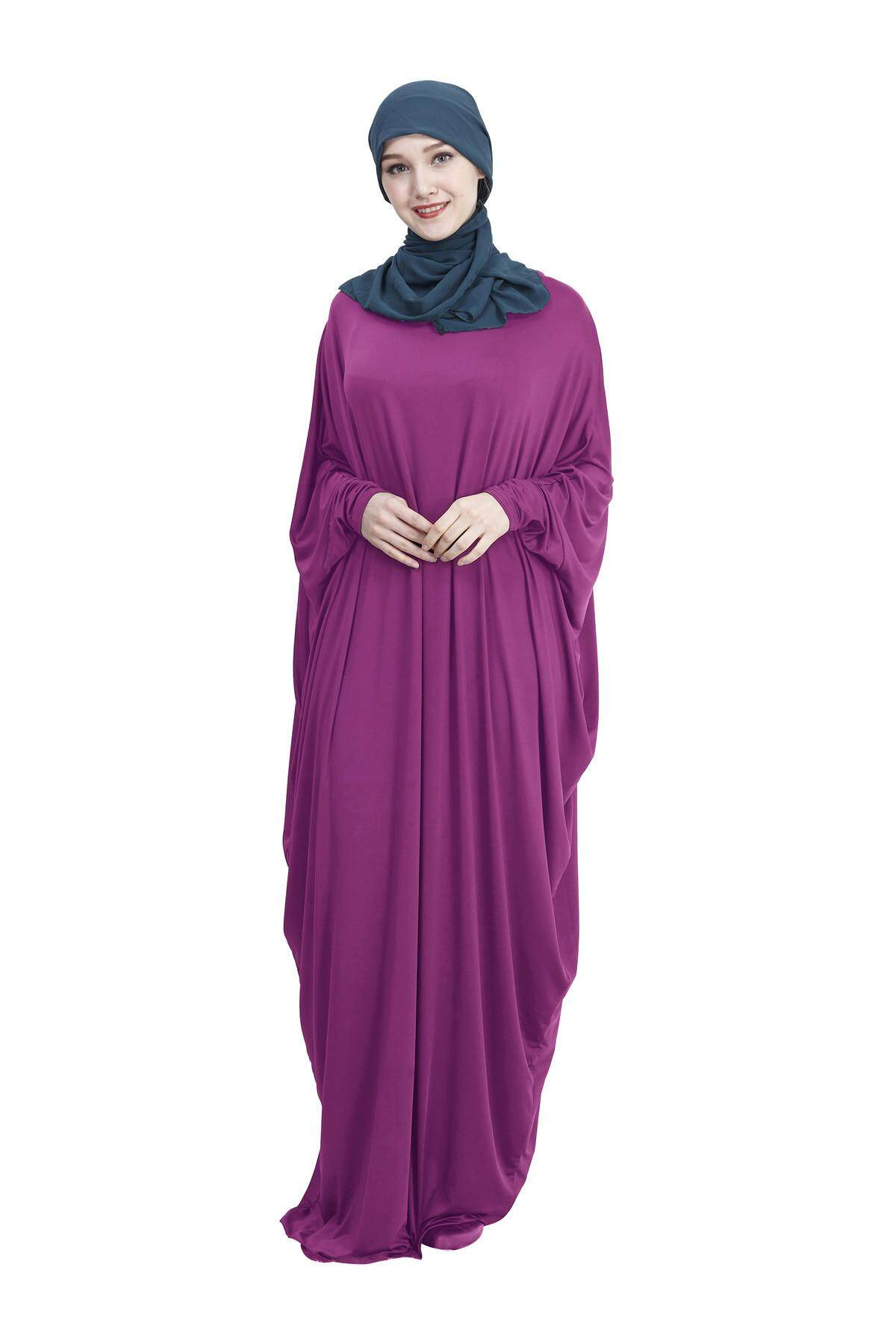 70601ee48c0b4 ZUZU Arab Muslim Cotton Casual Wear A Variety Of Colors Bat Sleeves Robe  New Free shipping
