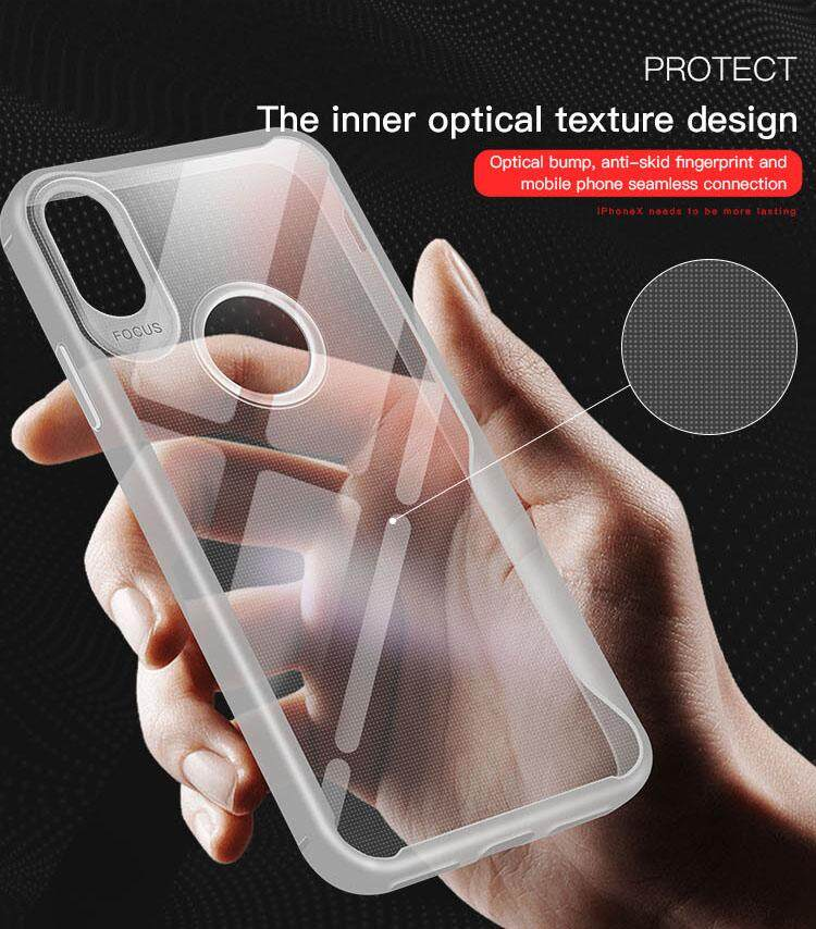 For OPPO A3S/A5 Ultra Slim Translucent Back Cover Non-slip Shockproof TPU  Full Protective Case Style:OPPO A3S/A5