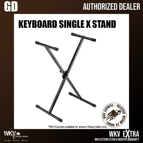 Foldable Standard Keyboard Single X Stand Height Adjustable (Keyboard Stand/ Digital Piano Stand/ X Stand/ Single X) Malaysia