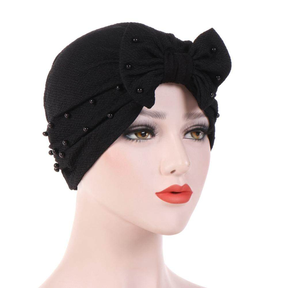Sanwood®Pita Simpul Warna Polos Dekorasi Wanita Kerudung Muslim Selendang Kepala Turban Topi