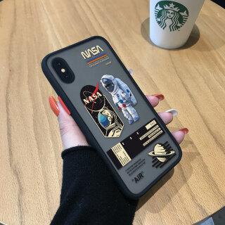 Ốp Hontinga Cho iPhone X Xr Xs Xs Max Ốp Lưng Phi Hành Gia Quốc Gia Không Gian NASA Mỹ Sáng Tạo Ốp Điện Thoại Trong Suốt Mờ Ốp Bảo Vệ Toàn Bộ Camera Ốp Cứng Cho Bé Trai Dành Cho Nam thumbnail