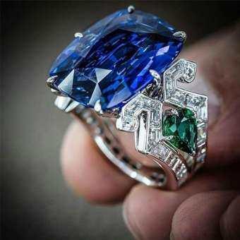 Sanwood®หรูหราขนาดใหญ่ Faux Topaz ผู้หญิงแหวนนิ้วมืองานปาร์ตี้เครื่องประดับสำหรับงานเลี้ยง Decor-