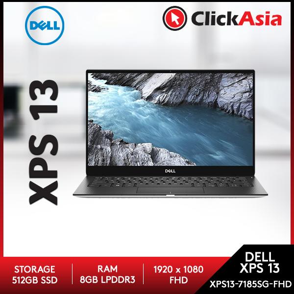 Dell XPS13-7185SG-FHD (7390S) 13.3  FHD Laptop Silver ( I7-10710U, 8GB, 512GB SSD, Intel, W10 ) Malaysia