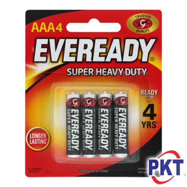 Eveready Super Heavy Duty 1.5V AAA Battery 4pcs Card Pack