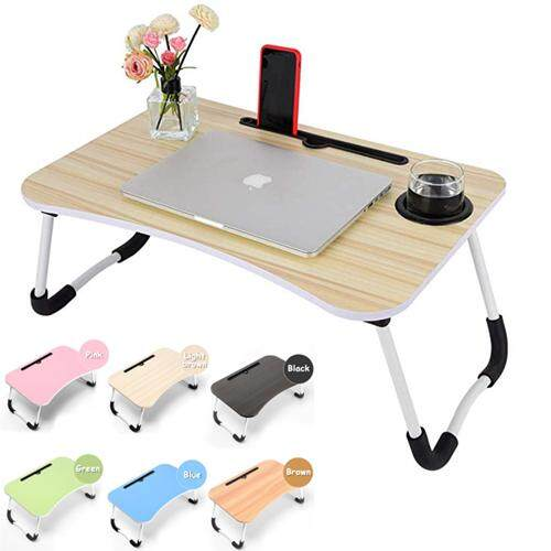 Foldable Table Anti Slip Laptop Table With Ipad Slot Computer Desk Cup Holder By Blisshome Online Shop.