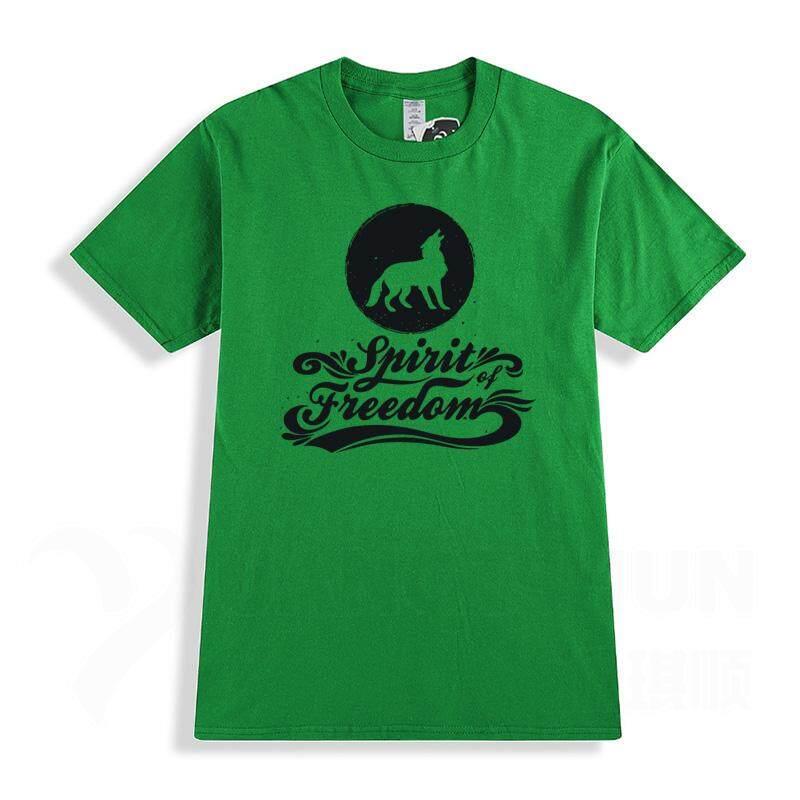 312d3bb577d Spirit of Freedom Wolf T Shirt Fashion Design Twilight Roaring wolf