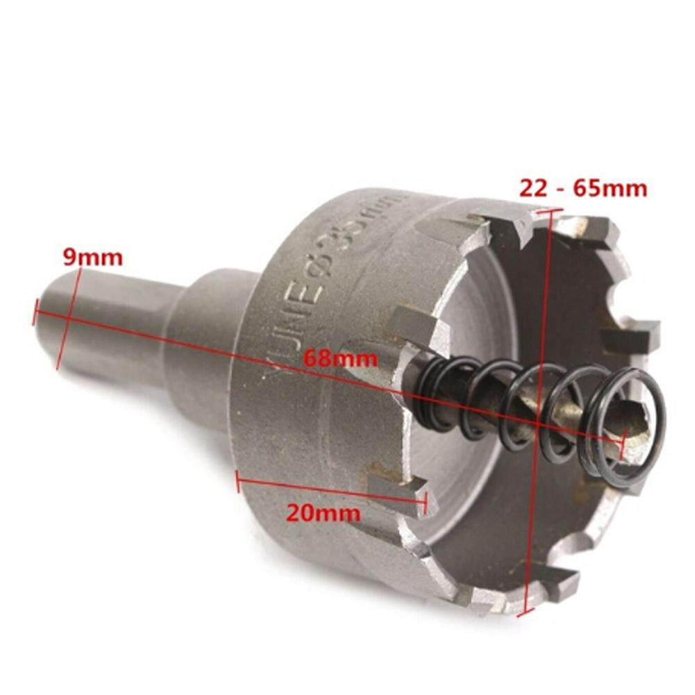 Carbide Tip TCT Drill Bit Kit Hole Saw For Stainless Steel Metal Alloy 22-65mm