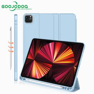Ốp iPad GOOJODOQ Ốp Cho iPad Pro 2021 Ốp 11 Inch 12 9 Có Khe Đựng Bút (Không Có Bút) Ốp Bảo Vệ Silicon Thức Dậy thumbnail