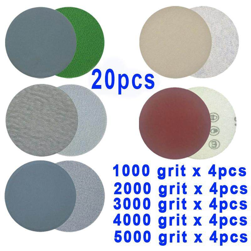【Toolstar】20PCS S996A 5Inch 125MM 1000/2000/3000/4000/5000 Grit Round Sand Paper Sandpaper Dry & Wet Grinding Car Polishin