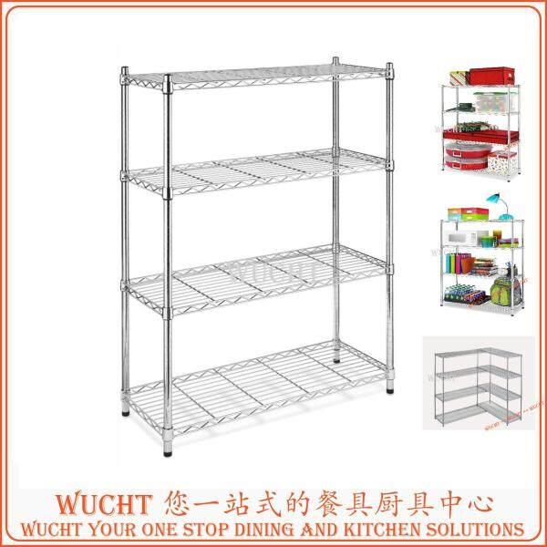 DIY Heavy Duty Wire Shelving, 36 Width x 60 Height x 18 Depth, 4 Shelves, Chrome