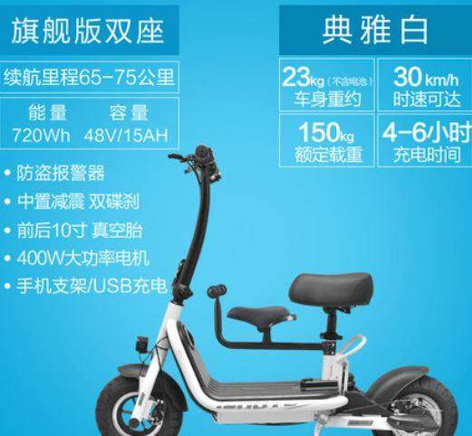 Pukka 2 Seat Mini Electric Scooter 65-75KM 720WH