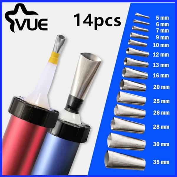 Vue-14Pcs Caulk Nozzle Applicator Perfect Caulking Finisher Stainless Steel Sealant Finishing Tool Kit for Kitchen Bathroom Window Sink Joint