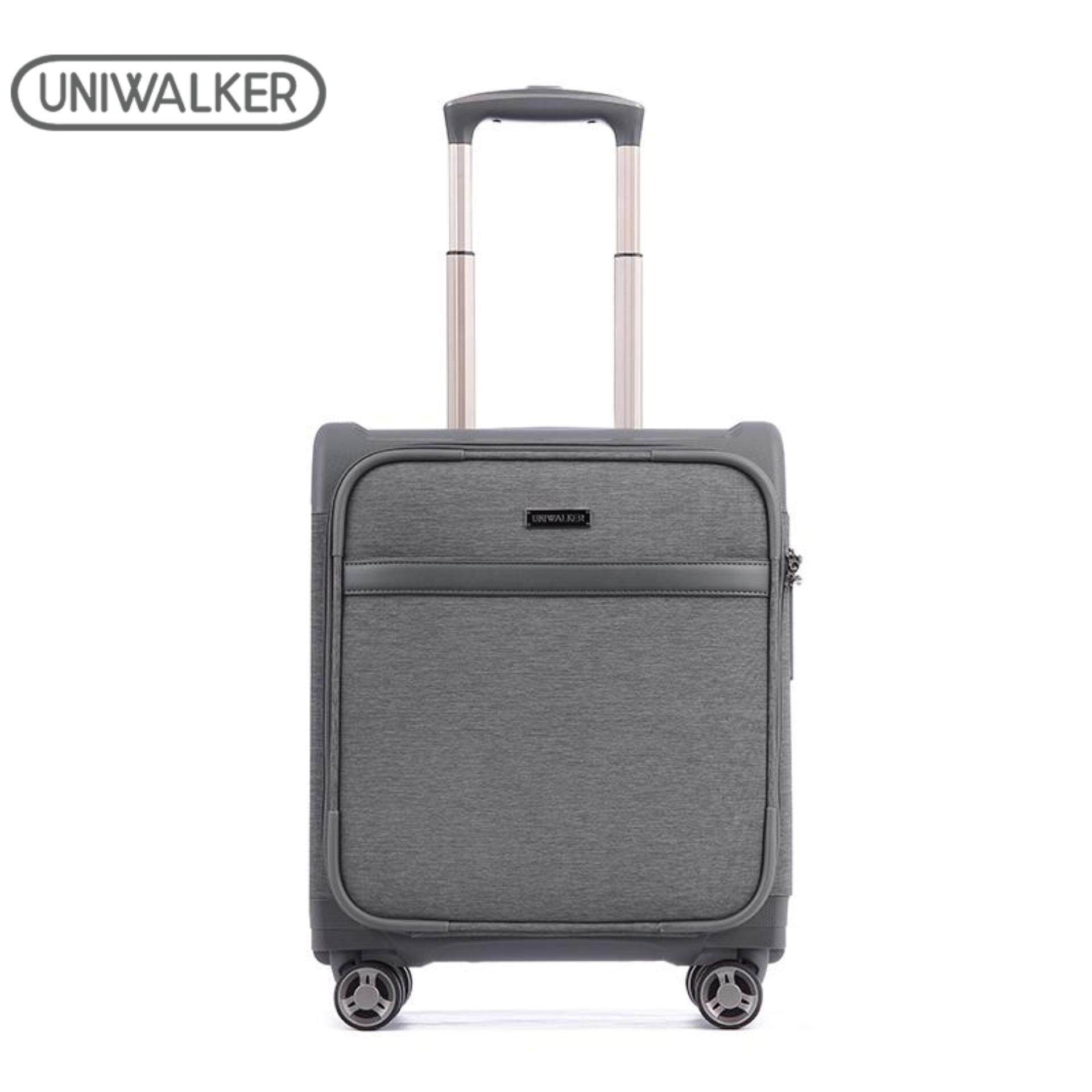 Ultralight Travel Suitcase Expandable+30%more Oxford Soft-Case luggage 4 Universal wheels with TSA Lock Trolley Luggage 16 inch