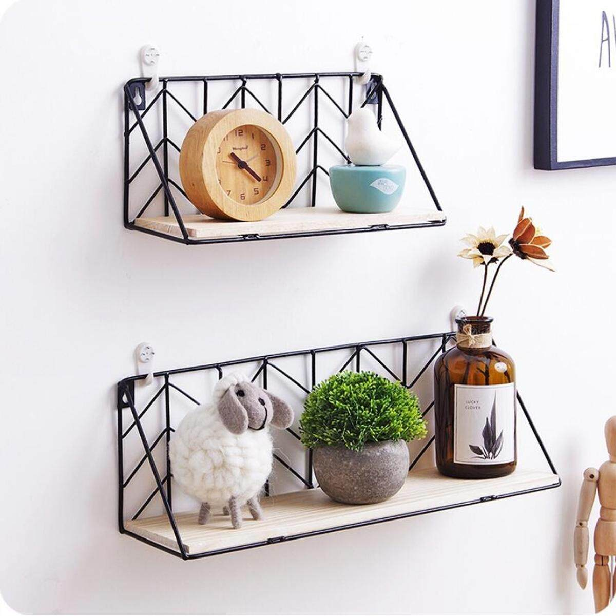 29x11x14cm Wall Shelf Wooden Floating Shelving Home Decorative Storage Wall Mounted Rack