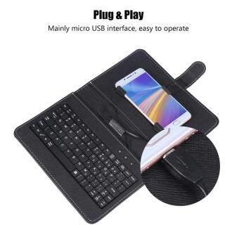 Bàn phím có dây và bộ Chuột dành cho Điện thoại Tablet Tương thích 4-8 inch Hệ thống OTG Android với PU Bìa Universal [Ready Cổ] thumbnail