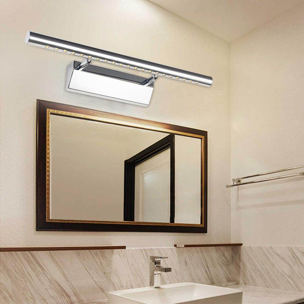 Front Light Stainless Steel Mirror Light Bathroom Mirror Lamp Over Mirror Cabinet Lights Switch Wall LED