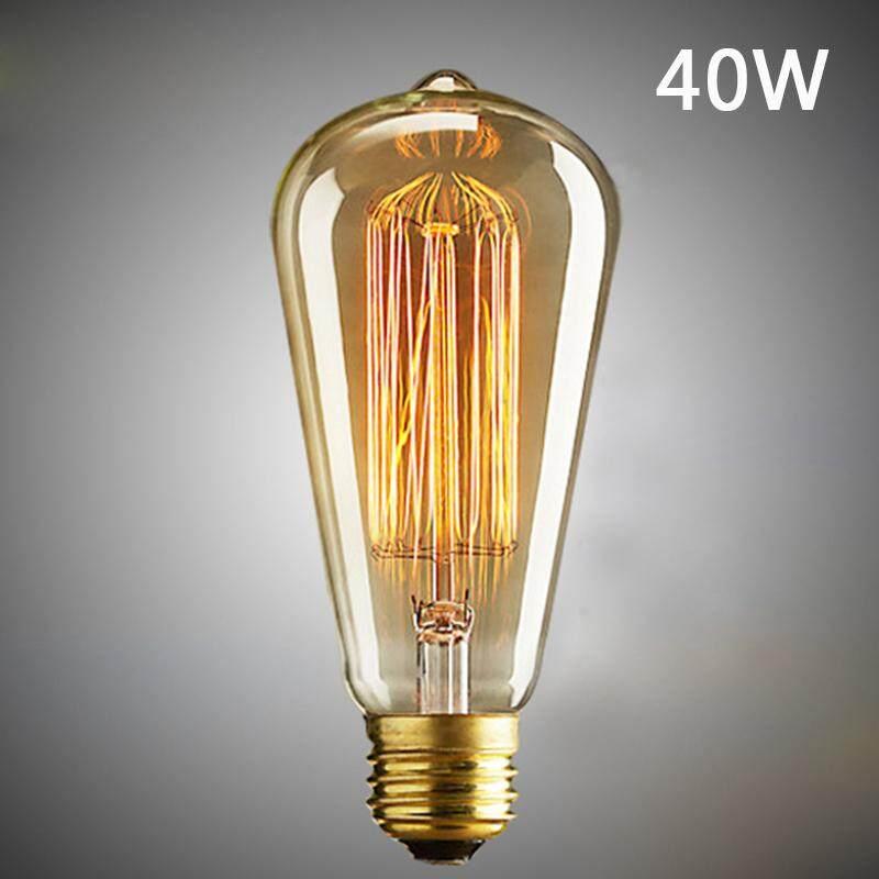 Light Bulbs Vintage Antique Retro Industrial Filament Lamp Light Edison Bulbs XMAS Lighting G80 40W