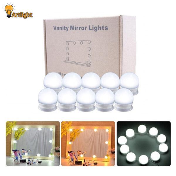 Bộ Đèn Gương LED Trang Điểm, Dây Đèn Tự Làm Có Thể Điều Chỉnh Độ Sáng 10 Bóng Đèn Để Trang Điểm Bàn Trang Điểm