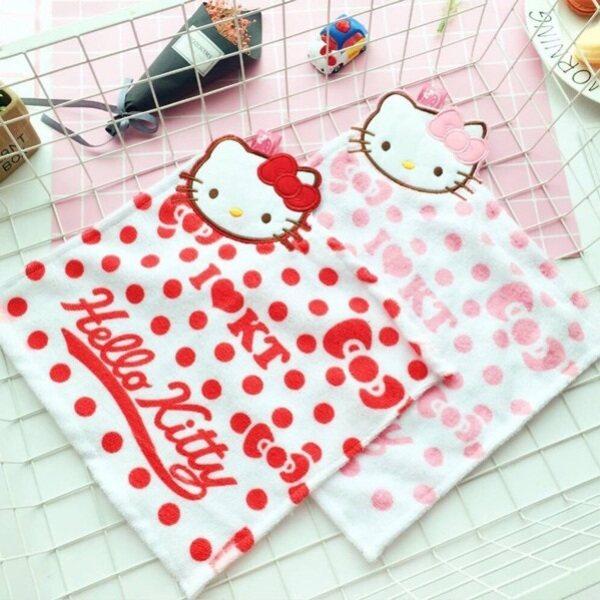 Ready Stock 现货 - Hello Kitty Cartoon Hangable Hand Towel Lovely Towel 凯蒂猫抹手巾