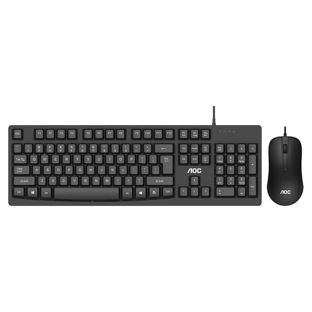 KM150 104 Keys USB Wired Keyboard 600 DPI Mouse Home Office Ergonomic Mice Kit for Laptop Computer PC Singapore