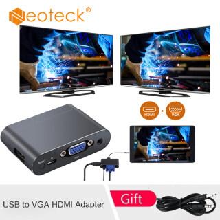 Neoteck Bộ Chuyển Đổi USB Sang VGA HDMI Bộ Chuyển Đổi USB Sang HDMI VGA HD Chuyển Đổi Hiển Thị Kép Multiports Với Bluetooth Dành Cho Huawei P20 Mate 20, Pro Samsung S8 S9 Note8 9, V. V. thumbnail
