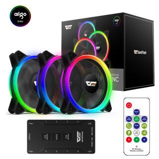 Ốp PC darkFlash DR12 Pro, 120Mm Fan, Quạt Máy Tính RGB Aigo SYNC ARGB Quạt Làm Mát Quạt Làm Mát Để Bàn AURA thumbnail