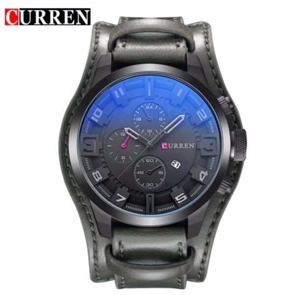 □  Original CURREN 8225 Mens Sports Full Leather Strap Date Watch - OPTIONS Malaysia