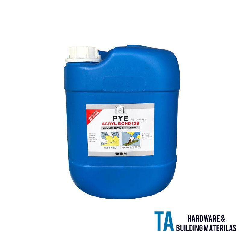 PYE ACRYL-BOND128 18 LITTER CEMENT BONDING ADDITIVE TILE FIXING FLOOR SCREEDS