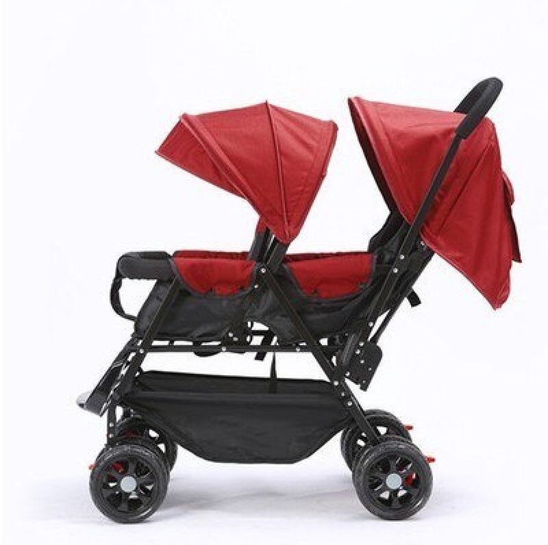 Twins Baby Stroller Can Sit Lying Fold Lightweight Double Baby Hand Pushing Buggies 2 In 1 Baby Carriage Baby   Double Stroller Singapore