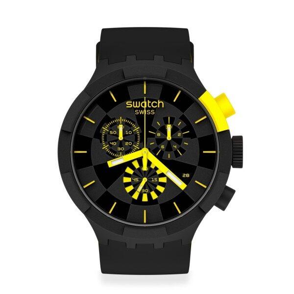 Swatch CHECKPOINT YELLOW Watch 47mm SB02B403 Malaysia