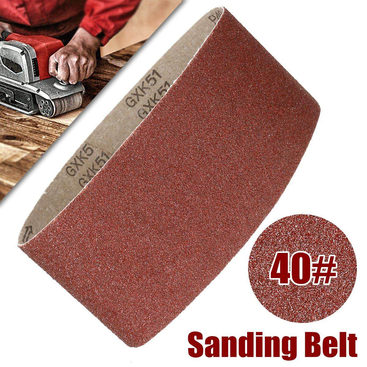 6Pcs 40/60Grits Sanding Belt 610x100MM 4x24 Ring Abrasive Aluminium Oxide for Sander