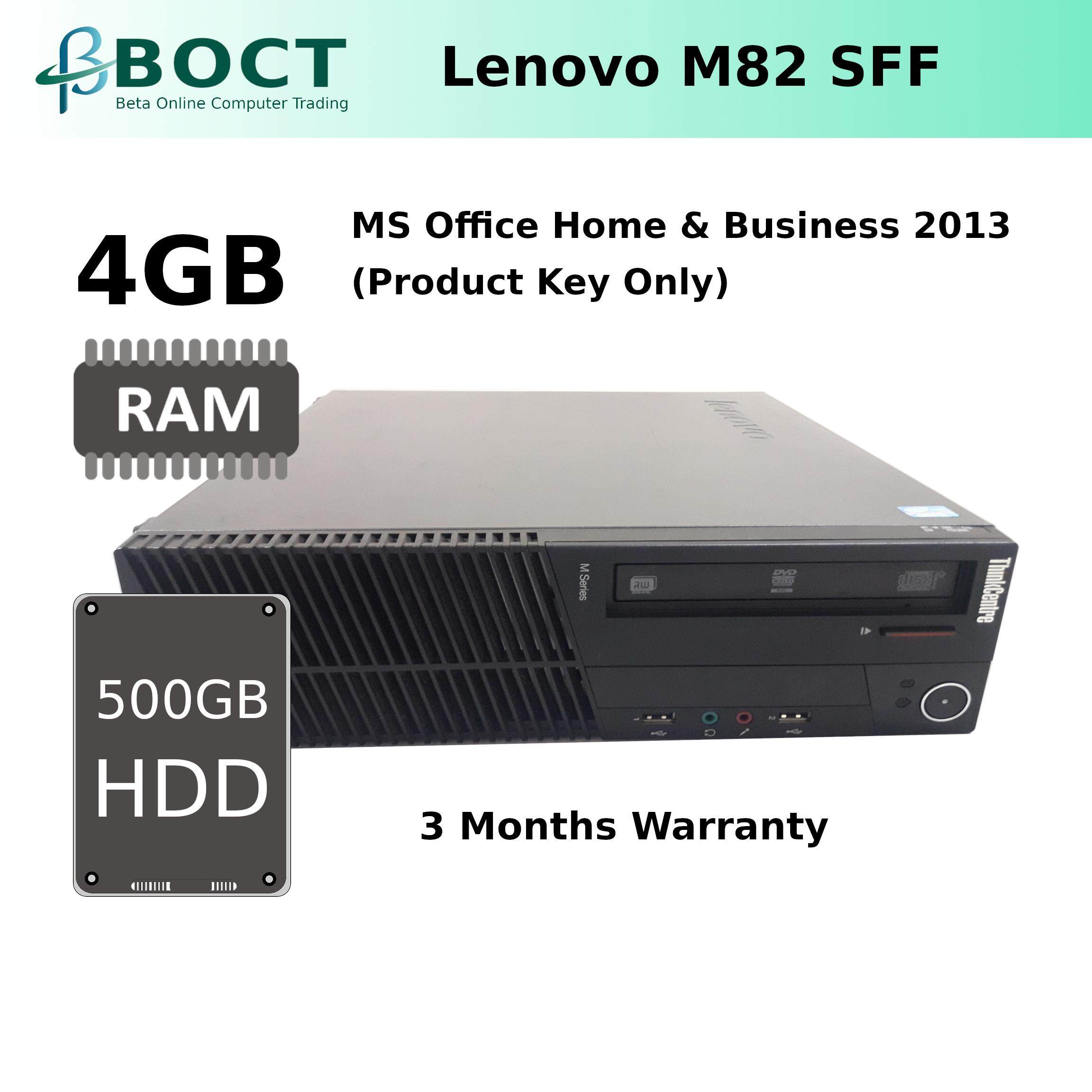 Lenovo ThinkCentre M82 SFF PC i5 3 0GHz/ DVD-RW/ Win 10 Pro/ MS Office Home  & Business 2013 (Product Key Only)/ Maximum 1 Year Warranty (Refurbished)