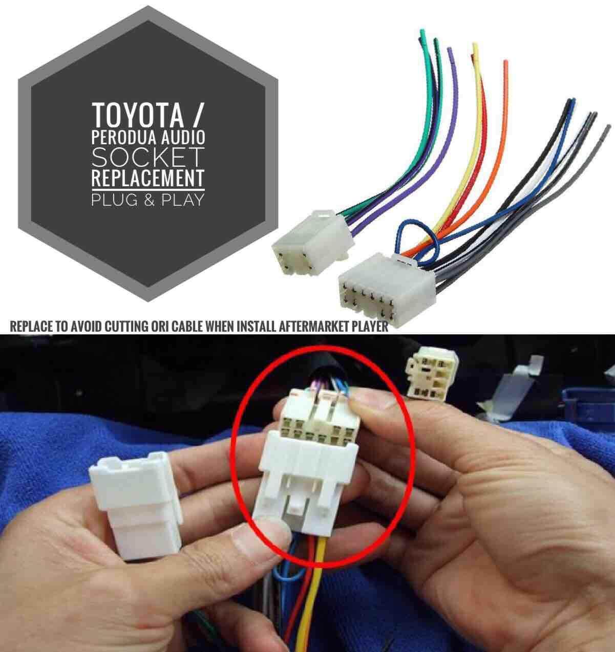 Toyota Perodua Audio Wiring Socket Replacement Plug And Play Oem Fitment By Kaki Kereta Auto Supply Sdn Bhd.
