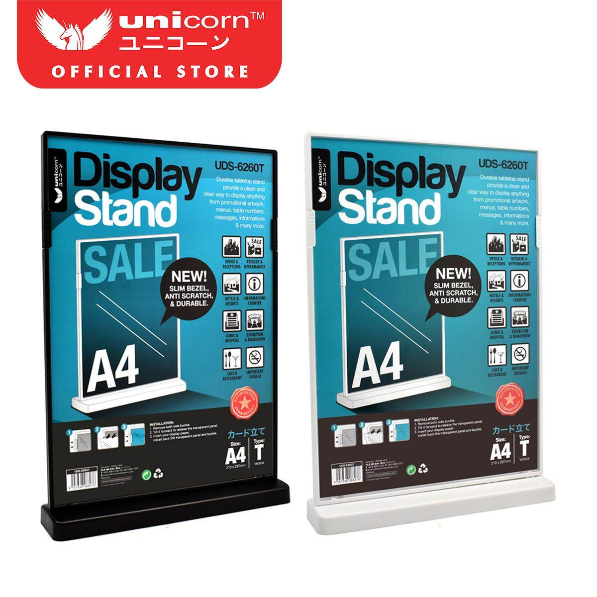 Unicorn A5 T-Shaped Display Stand 148x210mm Uds-6261t (black/white) By Unicorn.