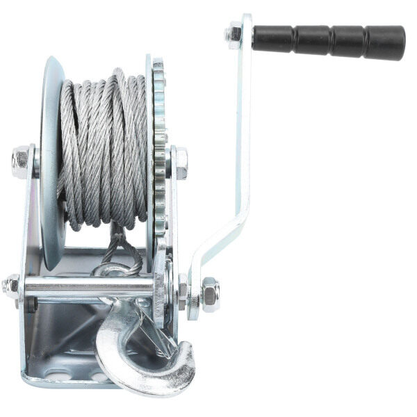 1200lb Winch Self-Locking Type Hand Crank Alloy Steel Crane Lifting Accessories with Hook