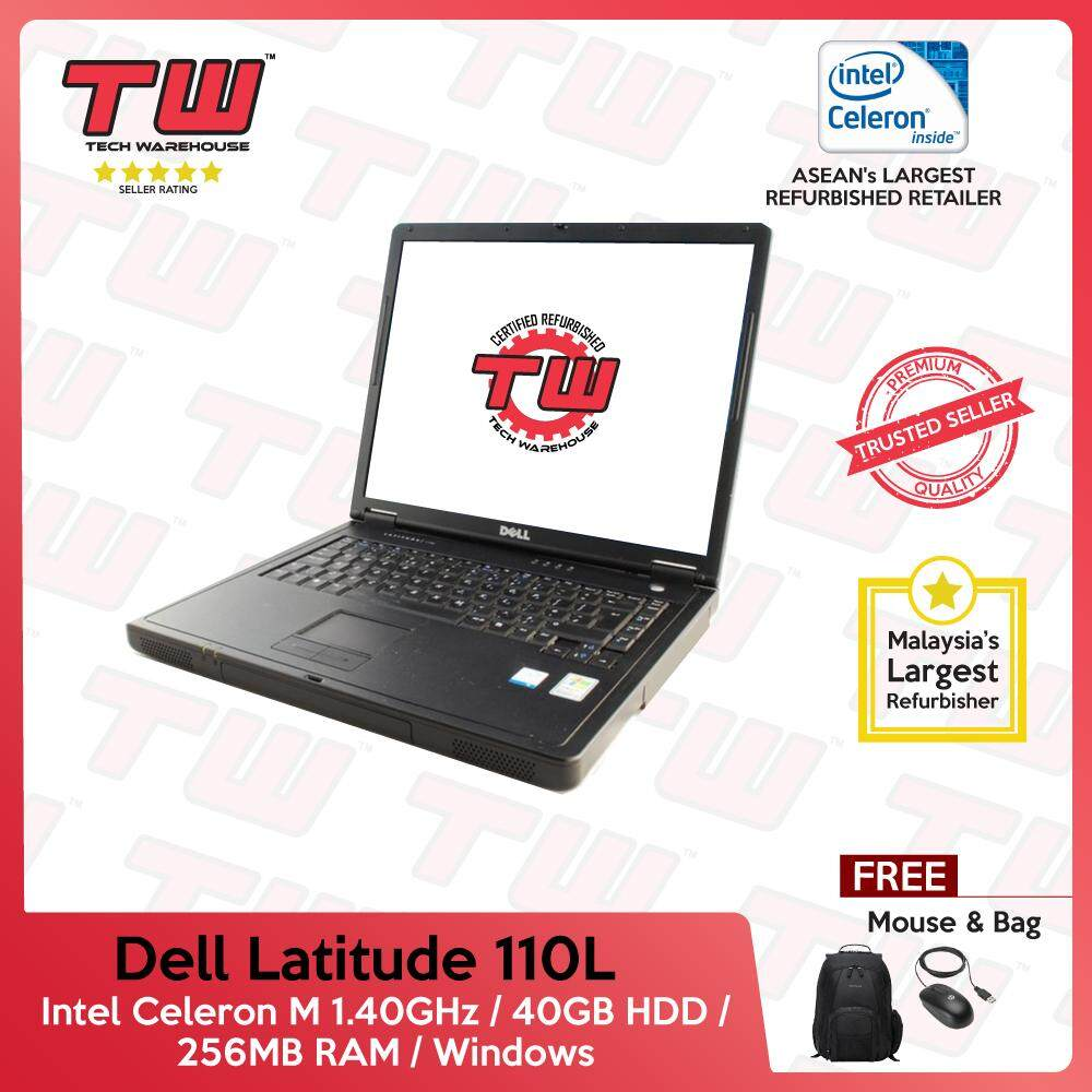 Dell Latitude 110L Celeron M 1.40GHz / 256MB RAM / 40GB HDD / Windows Laptop / 3 Month Warranty (Factory Refurbished) (SPECIAL OFFER) Malaysia