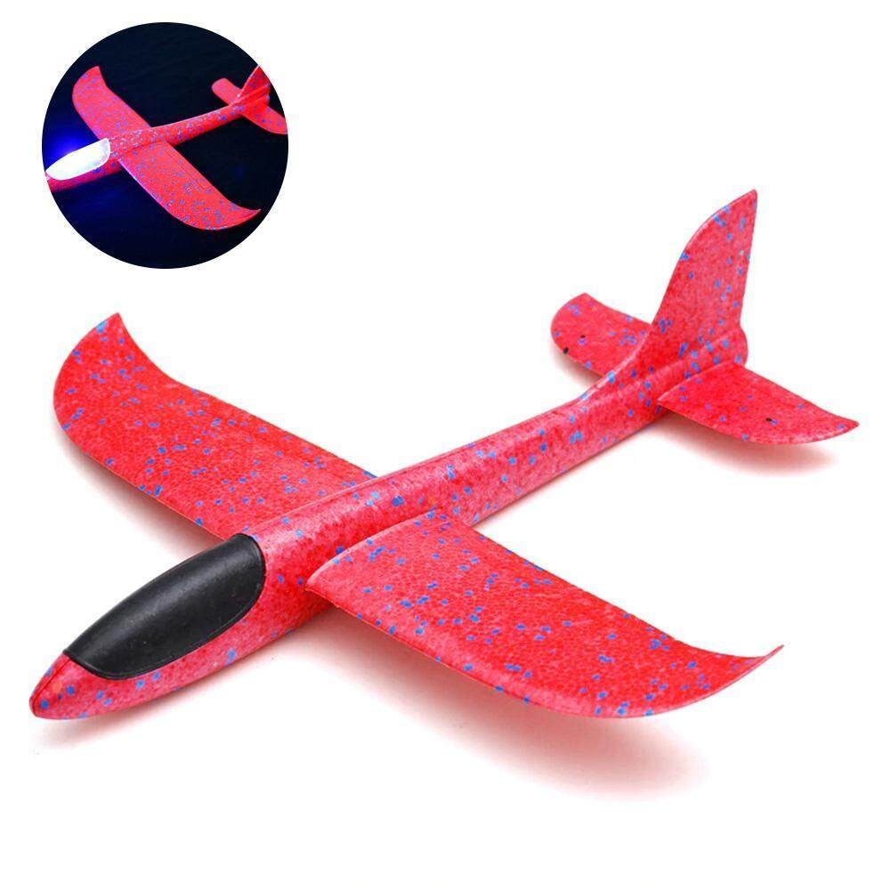 DS-Mart New Airplane Model Foam Glider Aircraft Hand Launch Inertia  Airplane Toys Outdoor Sports Flashing Luminous Airplane Decor Can Fly At  Night for