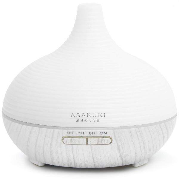 ASAKUKI 300ml Essential Oil Diffuser, Premium 5 In 1 Ultrasonic Aromatherapy Scented Oil Diffuser Humidifier, Timer and Waterless Auto-Off, 7 LED Light Colors Singapore