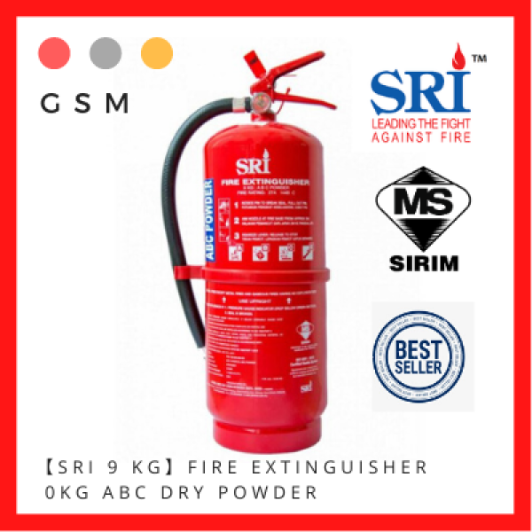 【SRI 9KG】Fire Extinguisher 9KG ABC Dry Powder #FireExtinguisher #Suitable for car and house