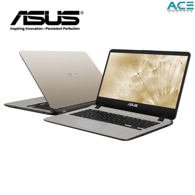 Asus Vivobook A407U-FBV061T / A407U-FBV062T Notebook *Grey/Gold* (i3-7020U/4GB DDR4/1TB HDD/MX130 2GB/14 HD/Win10) Malaysia