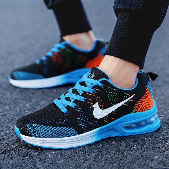 Giày thể thao nam chất vải lưới thoáng khí + đế cao su chống trơn trượt, êm chân, phong cách Hàn Quốc năng động, trẻ trung - INTL giá rẻ