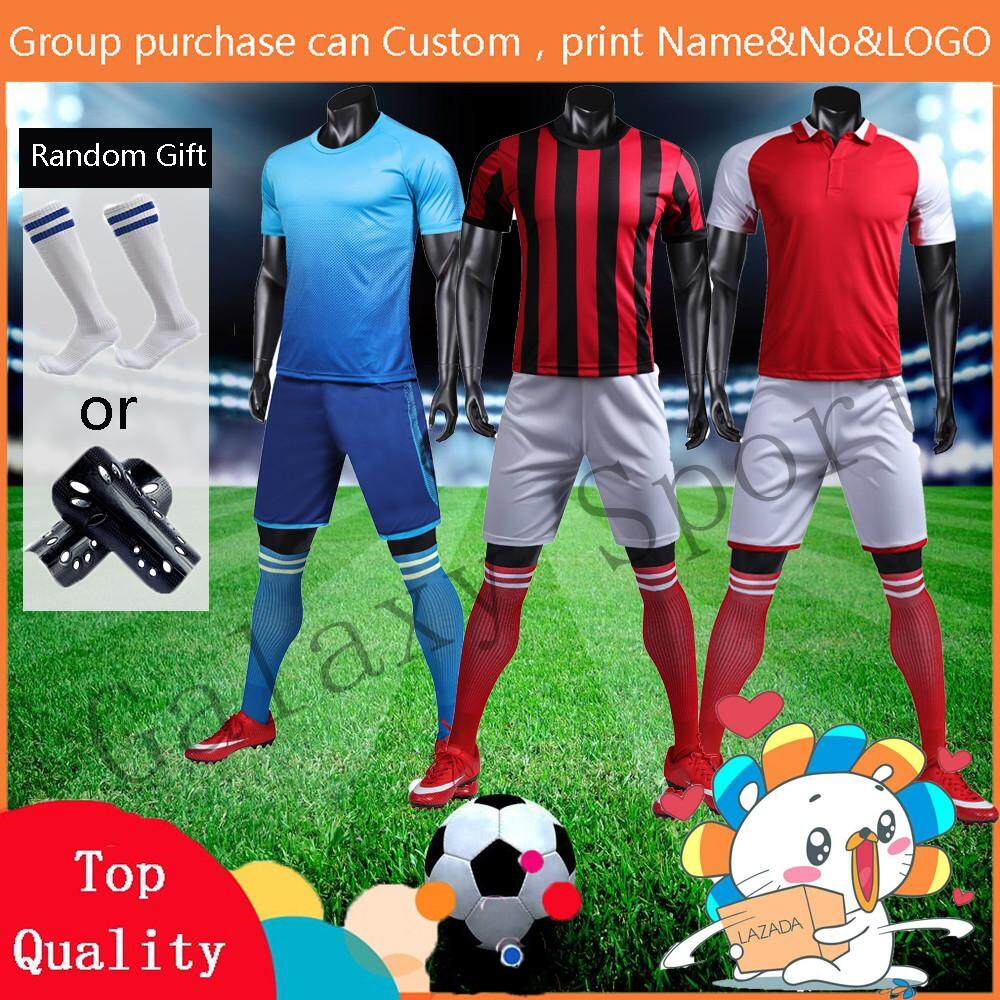 finest selection 5a6c2 21187 Jersey Custom Made A Set jersey Plain AC Milan Arsenal Real Madrid Nameset  Home and Away and 3rd Training shirt and Pants Football clothes set For Men  ...