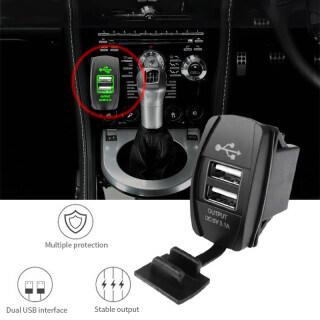 Ổ Cắm 12V 24V 36W USB Kép Chống Nước Sạc Điện Dùng Trên Xe Hơi Bộ Chuyển Đổi Ổ Cắm Điện thumbnail