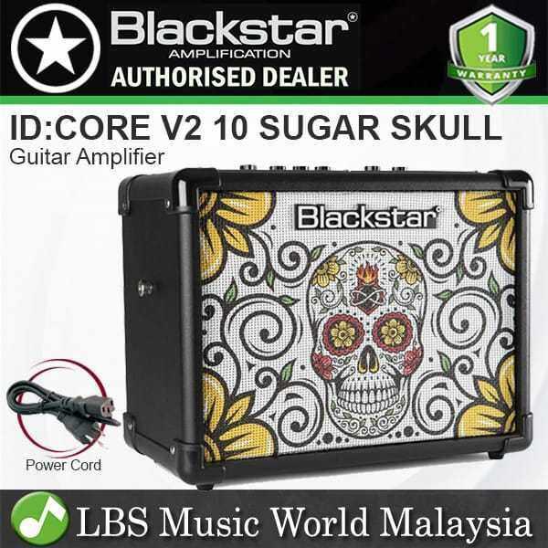 Blackstar ID:Core 10 V2 10 Watt 2 Channel Compact Limited Sugar Skull Guitar Amp Amplifier (ID Core) Malaysia